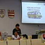 Postavenie verejnej dopravy v meste Prešov,  prezentuje Ing. Adriana Compeľová