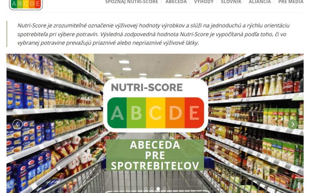 Nutri-Score pre zjednodušené nutričné označenie potravín a nápojov už aj na Slovensku