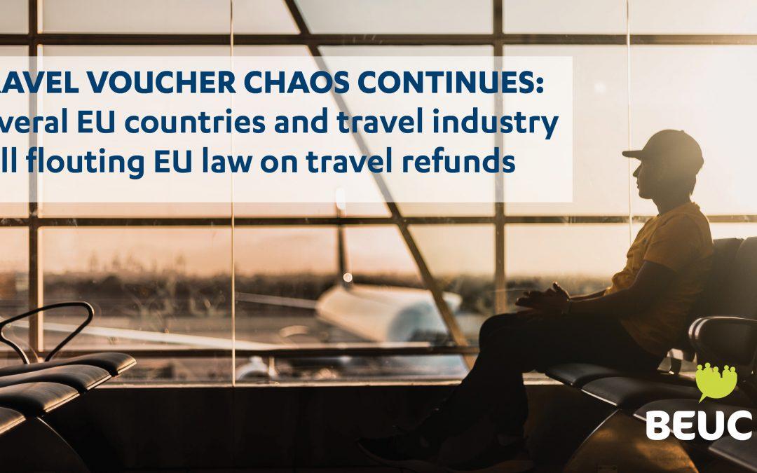 Chaos v oblasti cestovných poukazov pokračuje: Slovensko spolu s niekoľkými ďalšími krajinami EÚ a cestovnými operátormi stále porušuje právne predpisy o vrátení peňazí spotrebiteľom za neuskutočnené cesty a zájazdy