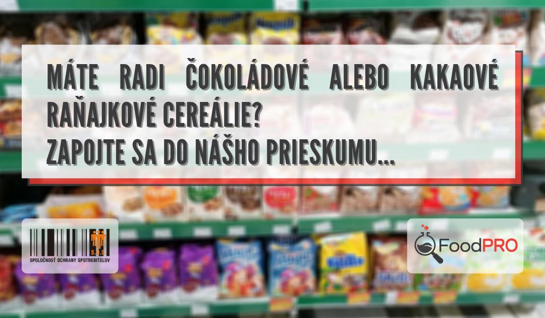 Food PRO spotrebiteľský prieskum